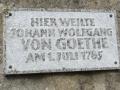 Am Seehaus - Goethe war wohl überall