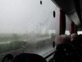 Regenguss - wir im Bus