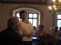 Schlossherrin und Gastgeberin Ines Brautsch im Schloss Nimritz