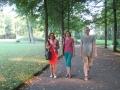 Spaziergang im Park von Schloss Molsdorf
