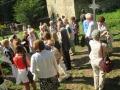 Auf dem historischen Friedhof Stedten